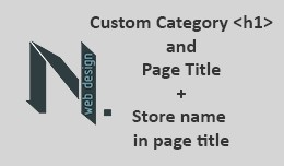 Category SEO Custom Category Title H1 + Store na..
