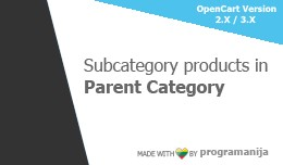 Subcategory Products in Parent Category Page