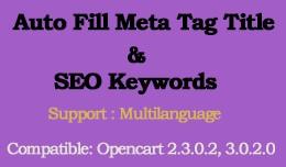 Auto Fill Meta Tag Title and SEO keyword