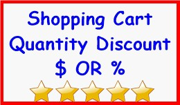 Shopping Cart Quantity Discount $ OR %