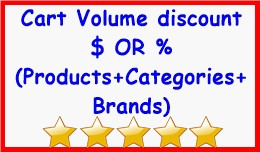 Cart Volume discount $ OR % (Products+Categories..