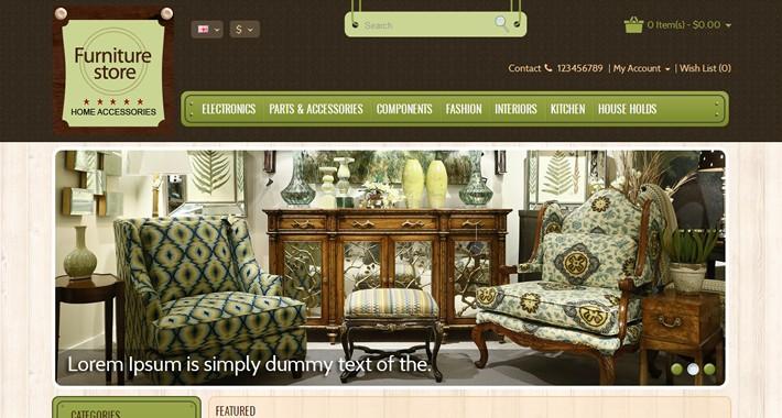 Furniture OpenCart Template - OPC050108