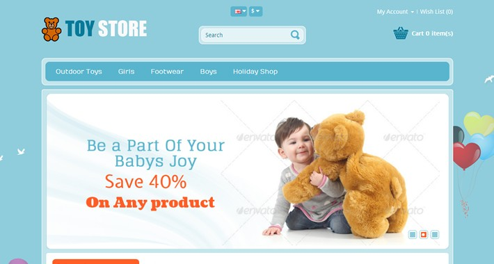 Toys OpenCart Template - OPC050105
