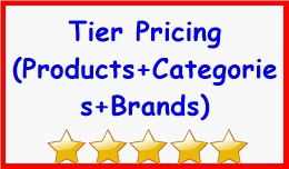 Tier Pricing $ OR % (Products+Categories+Brands)