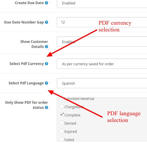 OpenCart - PDF Invoice Pro For Orders : Multiple Features