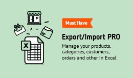 Export-Import to Excel PRO: products, categories..