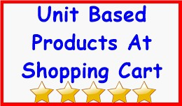 Unit Based Products At Shopping Cart
