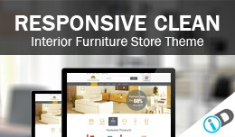 Clean Professional Interior Furniture  Template