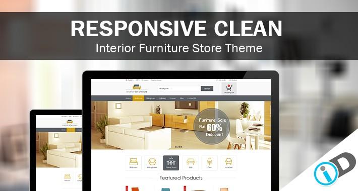 Clean Professional Interior Furniture  Template