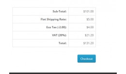 Show shipping cost in cart