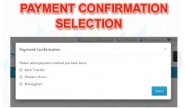Payment Confirmation Selection