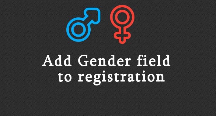 Add Gender Field