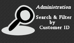 Admin Customer ID Search and Filter