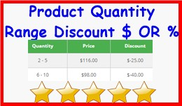 Product Quantity Range Discount $ OR %