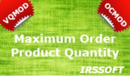Maximum Order Product Quantity VQMOD / OCMOD