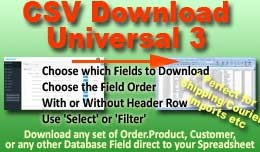 CSV Download Universal 3.0