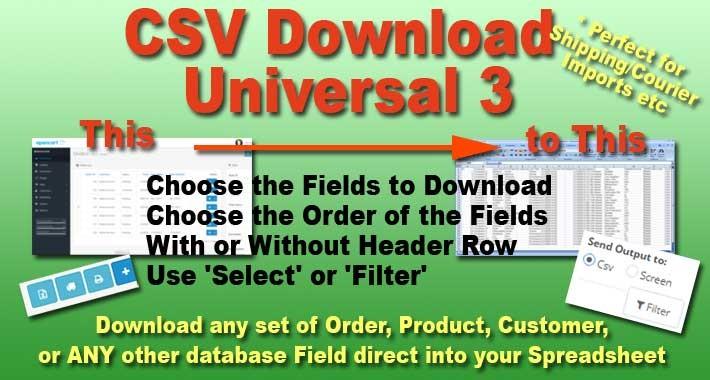 CSV Download Universal 3.0