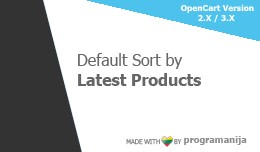 Default Sort By Latest Added Products