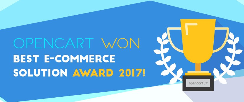 OpenCart won Best E-commerce Solution Award 2017