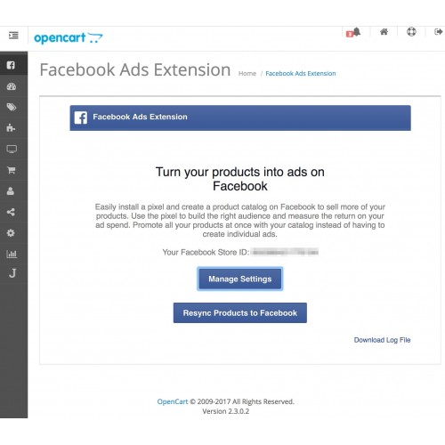 OpenCart - Facebook for OpenCart