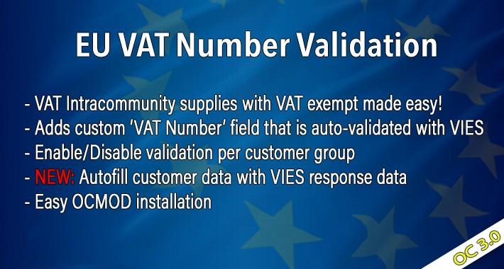 OC3 EU VAT Number Validation