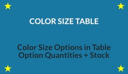 Color Size Table (OC 3)