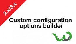 Custom configuration options builder
