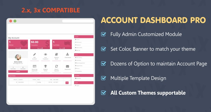Account Dashboard Pro 2