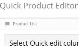 Quick product Editor 2.x
