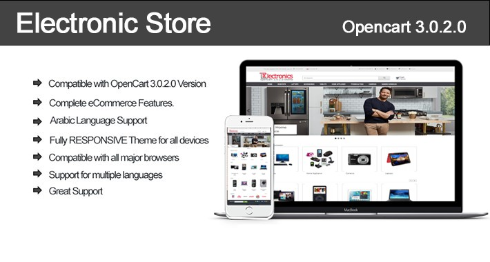 Electronic Store OpenCart 3.0.2.0 Theme