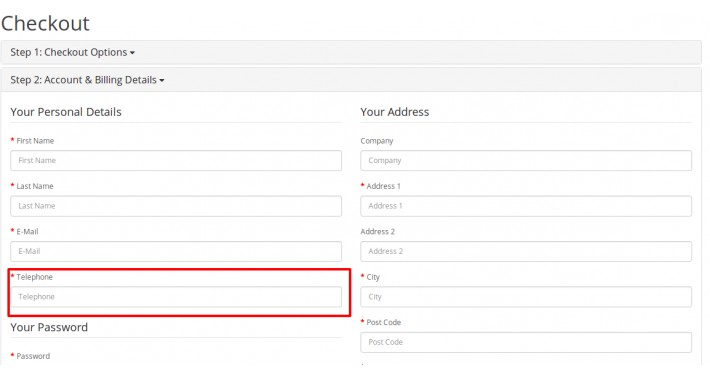 Remove Telephone Field Validation From Registration Pages