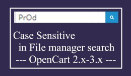 Case Sensitive in file manager search