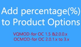 Add percentage to Product Options
