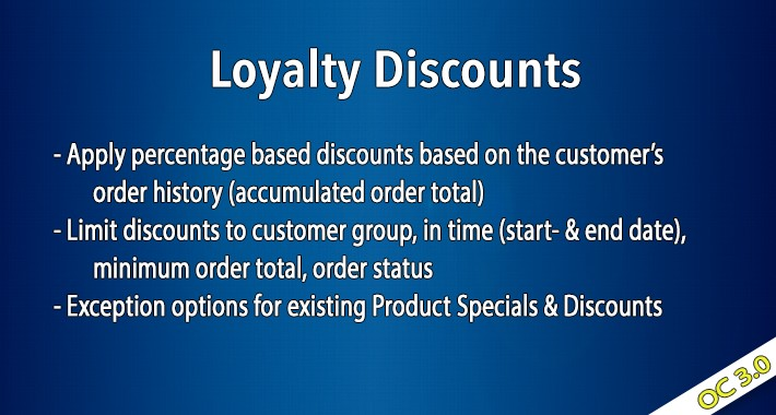 OC3 - Loyalty Discounts