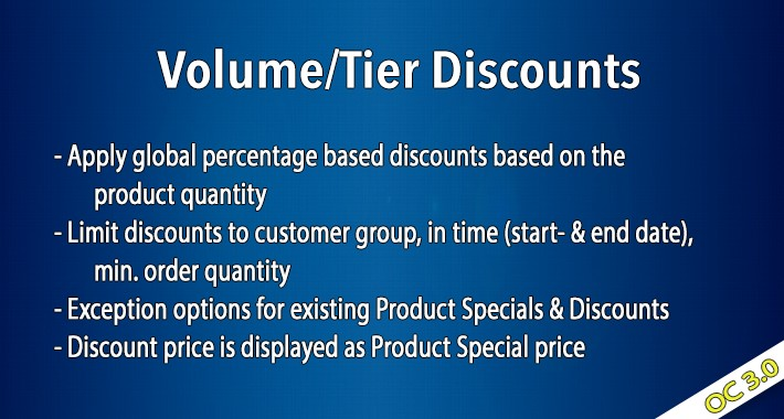 OC3 - Volume/Tier Discounts