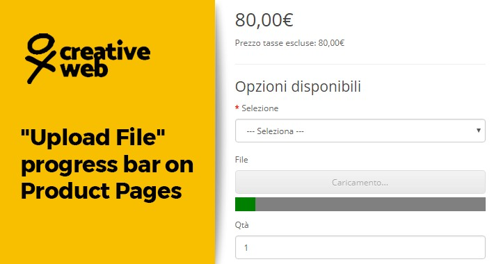 """Upload File"" progress bar on Product Pages optons"