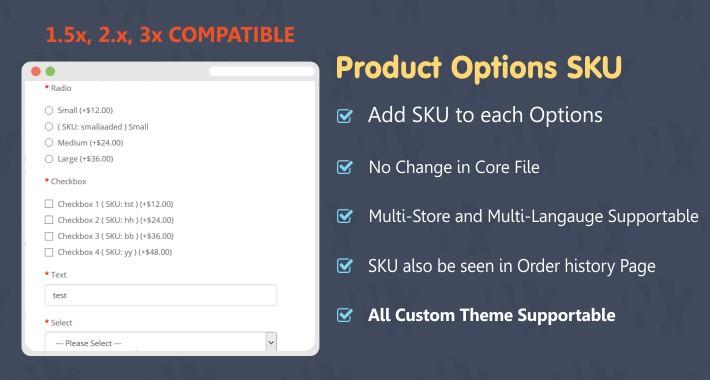 Product Options SKU