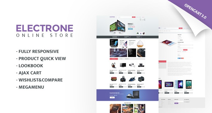 Electronics Store Responsive OpenCart Template 65462