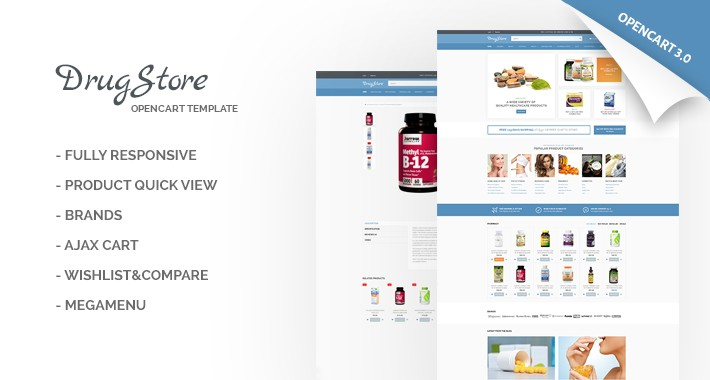 DrugStore Responsive Website Template 65548