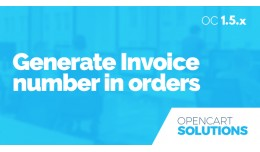 Generate Invoice Number in Orders