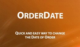 OrderDate - Change Order Date added in one click