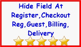 Hide Field At Register,Checkout Reg,Guest,Billin..
