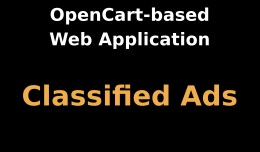 OpenCart-based Web Application: Classified Ads