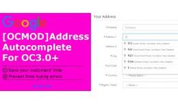[OCMOD]Google Address Autocomplete Pro OC3.0+