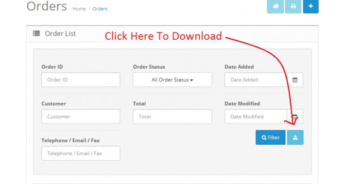 Order Export With Advance Filter System With A Lot Features