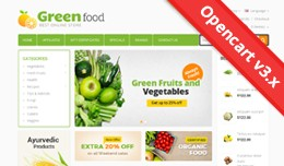 Green Food Opencart 3 Theme - OPCADD012