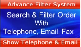 Search & Filter Order by Telephone, Email, Fax