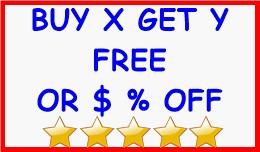 BUY X GET Y FREE OR $ % OFF