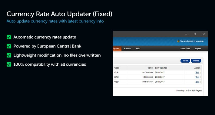 Currency Rate Auto Updater (Fixed)