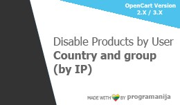 Disable Products By User Country and User Group ..